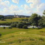 Сочинение по картине Щербакова «Русь Подмосковная»